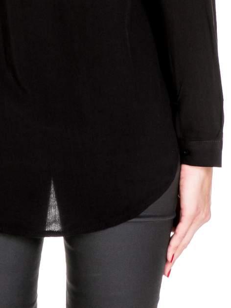 Czarna koszula z biżuteryjnym kołnierzykiem                                  zdj.                                  8