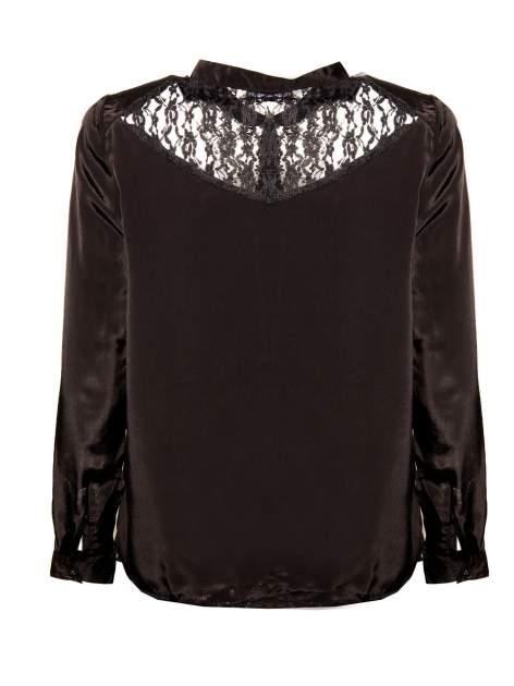 Czarna koszula z koronkowym żabotem w stylu wiktoriańskim                                  zdj.                                  2