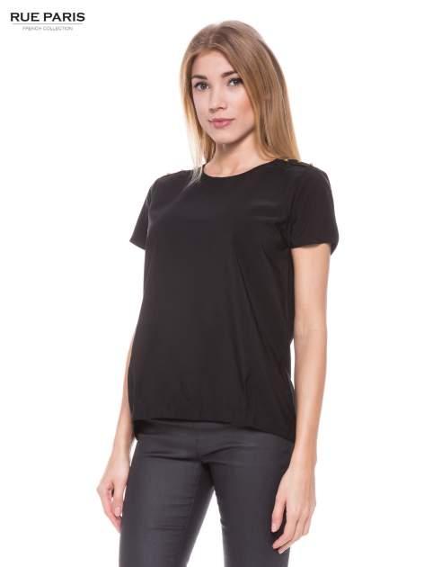 Czarna koszula ze złotymi ćwiekami na ramionach                                  zdj.                                  1