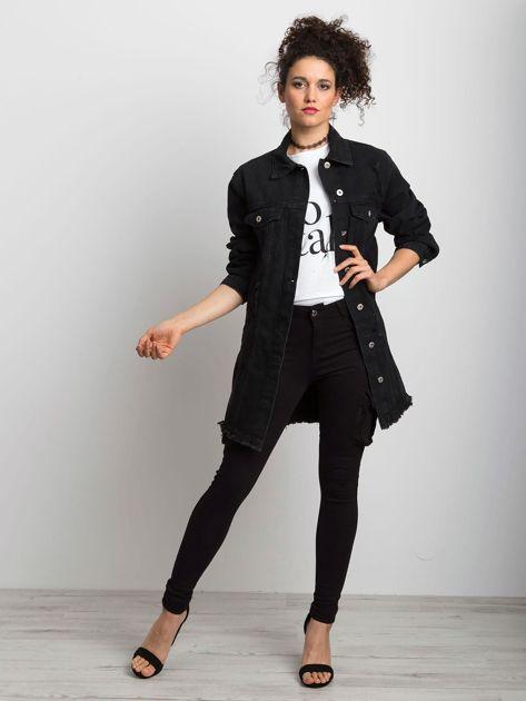 Czarna kurtka jeansowa Source                              zdj.                              4