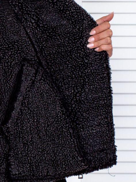 Czarna kurtka z kożuszkiem                               zdj.                              7