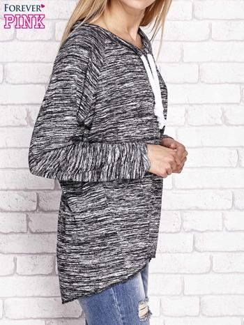 Czarna melanżowa bluza z troczkami                              zdj.                              3