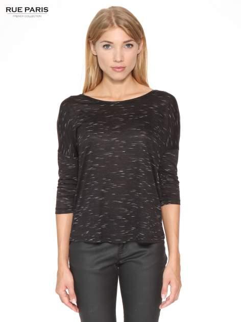 Czarna melanżowa bluzka o obniżonej linii ramion