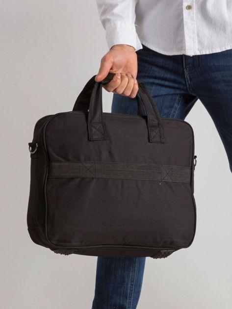 Czarna męska torba na laptopa                              zdj.                              2