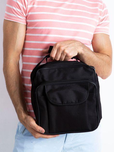 Czarna męska torba z kieszenią
