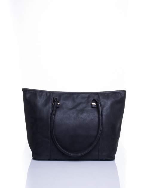 Czarna miękka torba shopper bag                                  zdj.                                  1