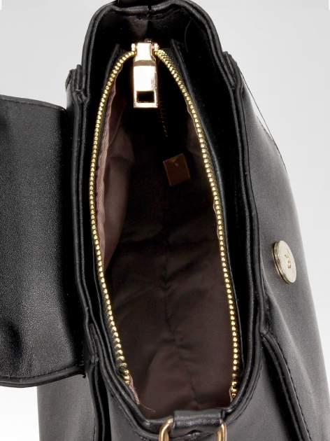Czarna mini torebka kuferek z marszczoną rączką                                  zdj.                                  7