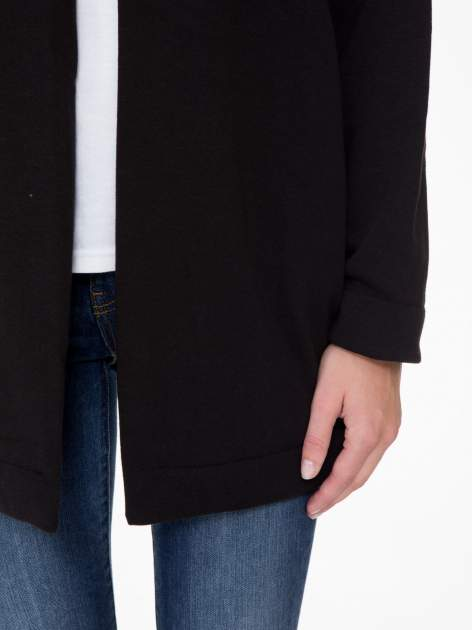 Czarna otwarta bluza dresowa                                  zdj.                                  6