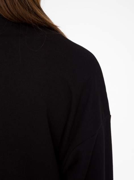 Czarna otwarta bluza dresowa                                  zdj.                                  8