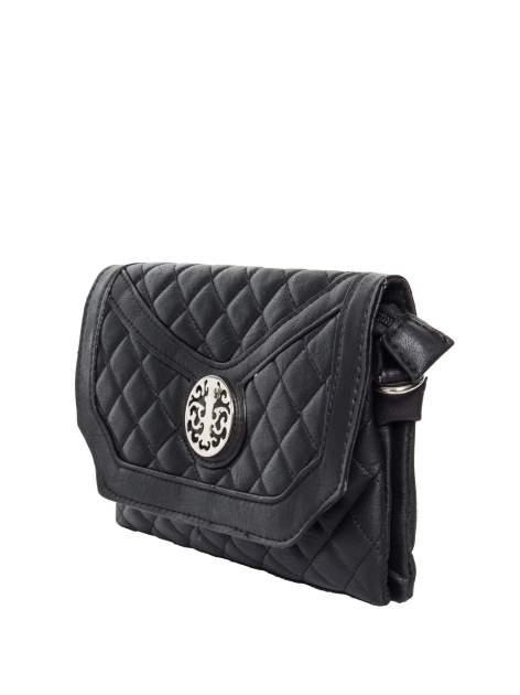 Czarna pikowana torba typu listonoszka                                  zdj.                                  3