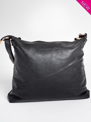 Czarna pikowana torebka na ramię                                  zdj.                                  5