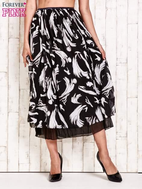 Czarna plisowana spódnica midi z brokatem