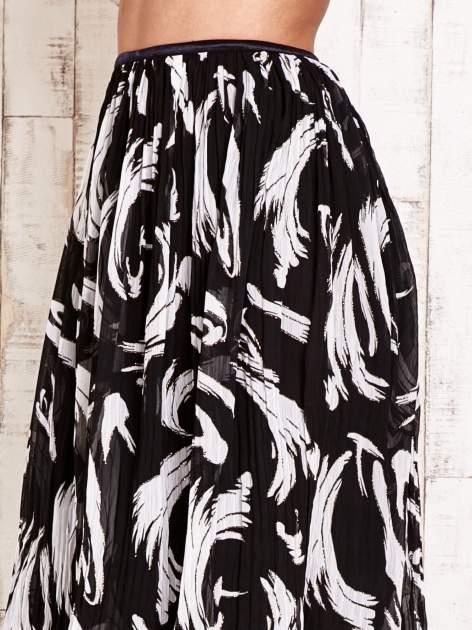 Czarna plisowana spódnica midi z brokatem                                  zdj.                                  5