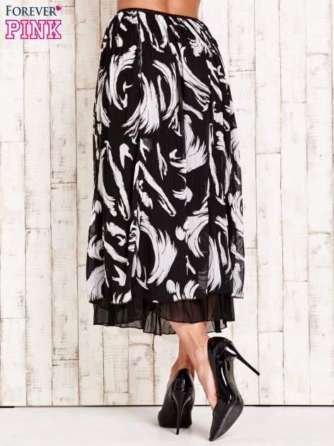 Czarna plisowana spódnica midi z brokatem                                  zdj.                                  4