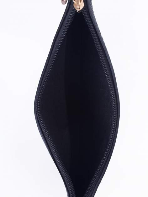 Czarna prosta przewieszana torebka z uchwytem                                  zdj.                                  5