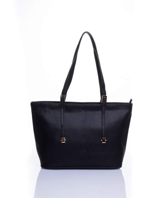 Czarna prosta torba shopper bag                                  zdj.                                  1