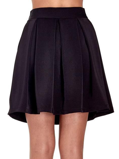 Czarna rozkloszowana spódnica z kontrafałdami                                  zdj.                                  7