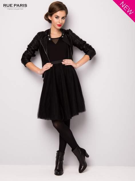 Czarna rozkloszowana tiulowa spódnica                                  zdj.                                  7