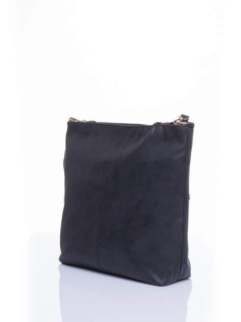Czarna siateczkowa torba hobo                                  zdj.                                  3