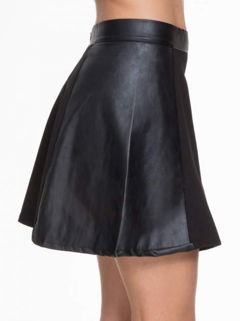 Czarna skórzana mini spódniczka                                  zdj.                                  6