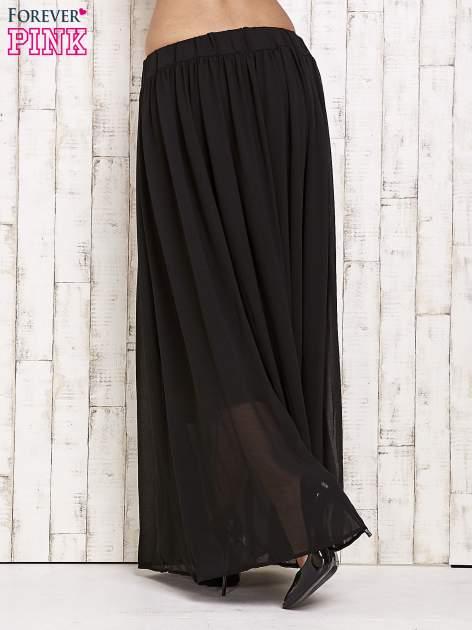 Czarna spódnica maxi na gumkę w pasie                                  zdj.                                  3