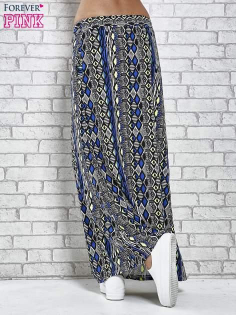 Czarna spódnica maxi w azteckie wzory                                  zdj.                                  4