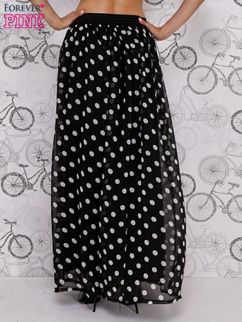 Czarna spódnica maxi w białe grochy                                  zdj.                                  4