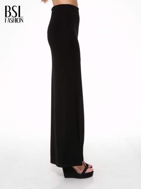 Czarna spódnica maxi z asymetrycznym zamkiem                                  zdj.                                  3