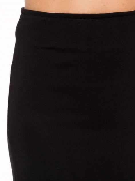 Czarna spódnica maxi z asymetrycznym zamkiem                                  zdj.                                  8