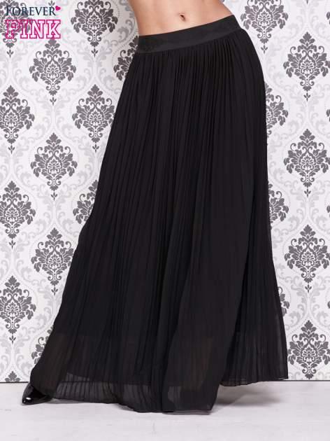 Czarna spódnica maxi z ornamentowym paskiem                                  zdj.                                  1