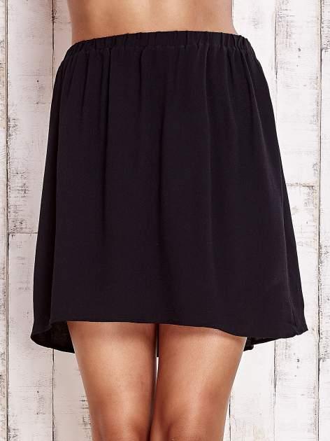 Czarna spódnica na gumkę                                  zdj.                                  1