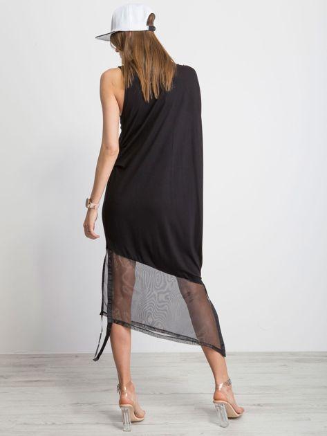 Czarna sukienka Asymetric                              zdj.                              2