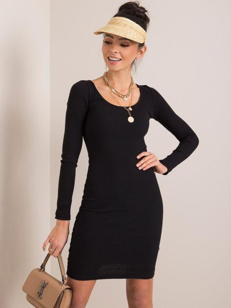 Czarna sukienka Georgina RUE PARIS