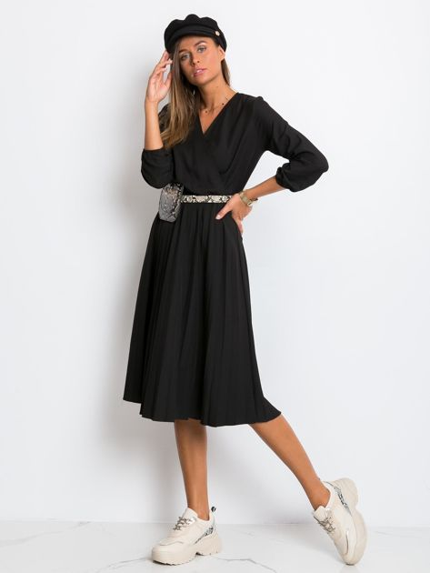 Czarna sukienka Gingham                              zdj.                              4
