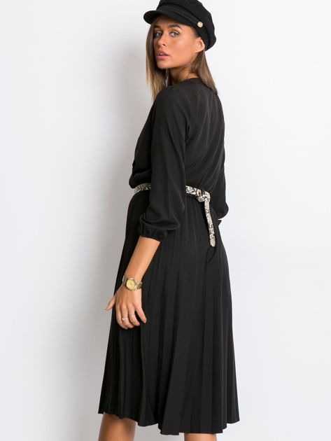 Czarna sukienka Gingham                              zdj.                              2