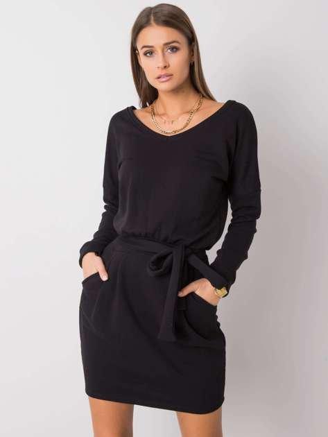 Czarna sukienka Kloe RUE PARIS
