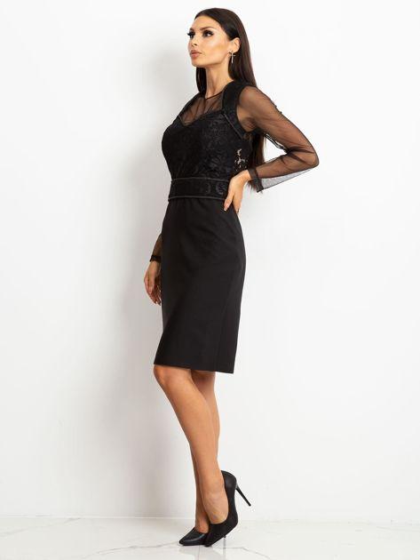 Czarna sukienka Moment                              zdj.                              3