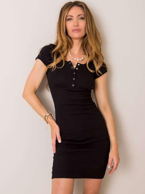 Czarna sukienka Netrice RUE PARIS