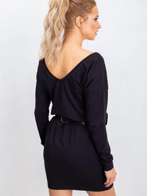 Czarna sukienka Simple                              zdj.                              1