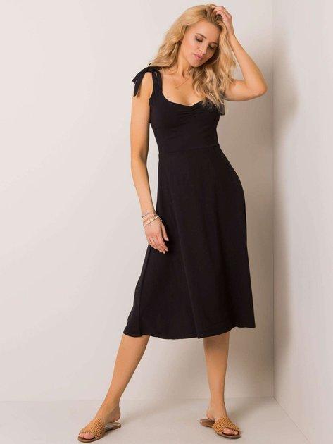 Czarna sukienka Twister NIE ZNASZ MNIE