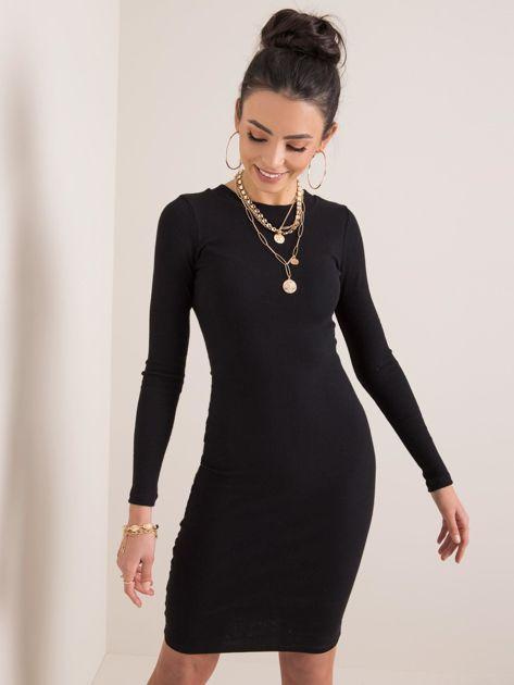 Czarna sukienka Vela RUE PARIS