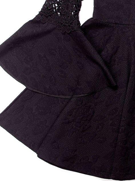 Czarna sukienka dla dziewczynki z szerokimi rękawami                              zdj.                              9