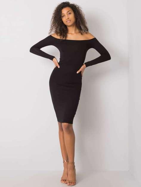 Czarna sukienka dopasowana Margaux RUE PARIS