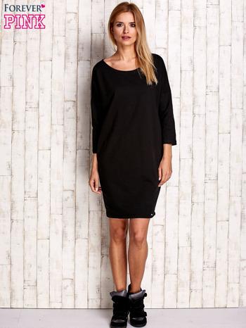 Czarna sukienka oversize                                  zdj.                                  2