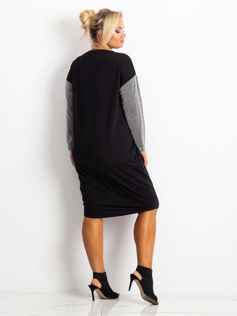 Czarna sukienka plus size Desire                              zdj.                              2