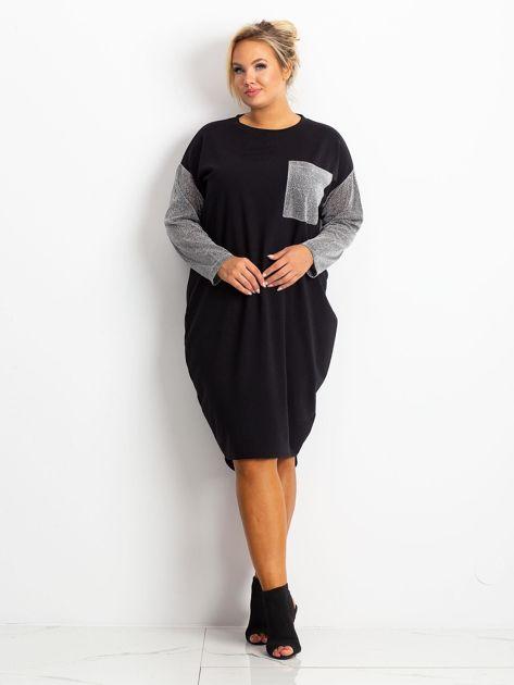 Czarna sukienka plus size Desire                              zdj.                              4