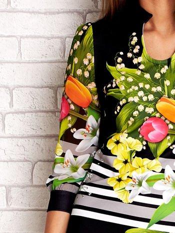 Czarna sukienka w kwiaty                                  zdj.                                  5