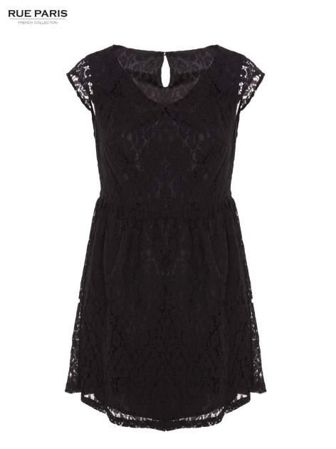 Czarna sukienka wieczorowa z koronką                                  zdj.                                  1