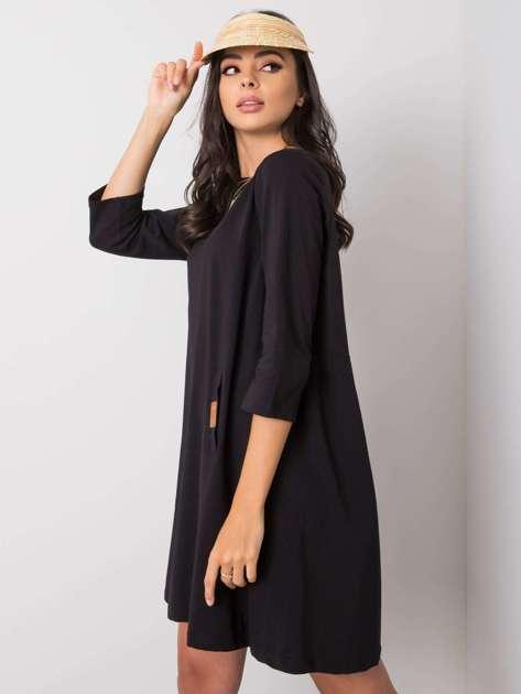 Czarna sukienka z bawełny Dalenne