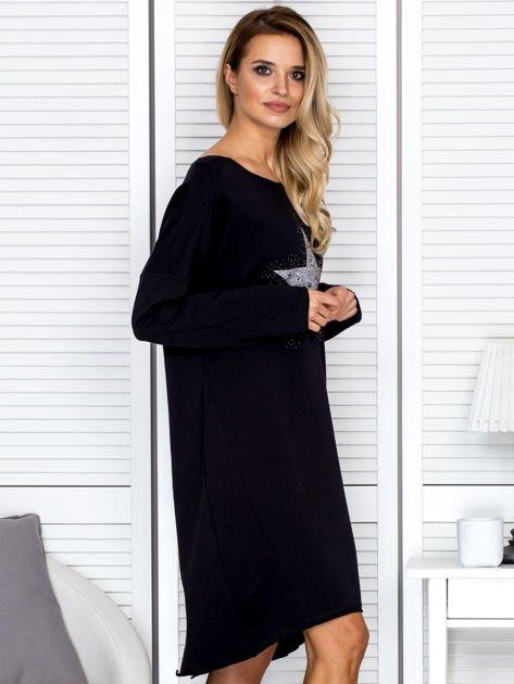 Czarna sukienka z gwiazdą                               zdj.                              3